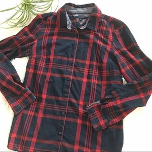 Tommy Hilfiger Classic Fit button down plaid top